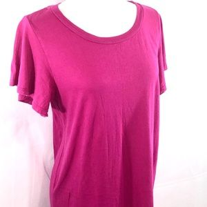EUC T.la Anthropologie Pink T-Shirt Dress Size M